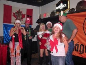 karaoke christmas carolers