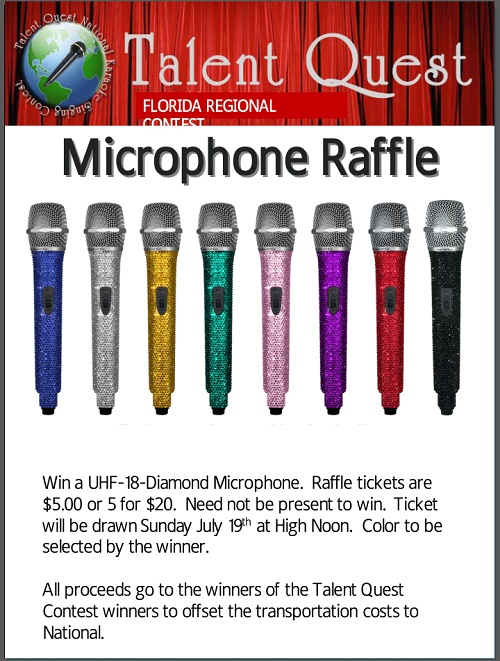 Talent Quest Microphone Raffle